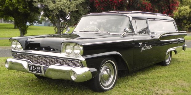 1960 Ford Galaxy hearse Geelong